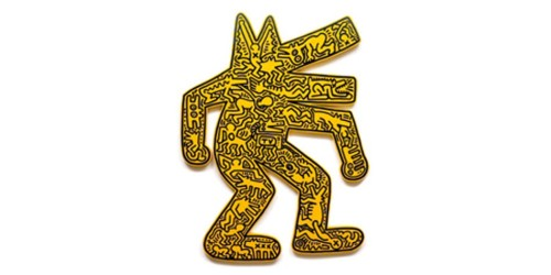 Keith-Haring-Dog-1986-plywood-painted-with-silk-screen-cm.-126x96x4