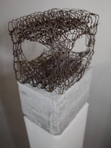 ferro e cemento, cm 18x11x9 (Premio Valcellina Il Doppio, Museo delle Coltellerie, Maniago)