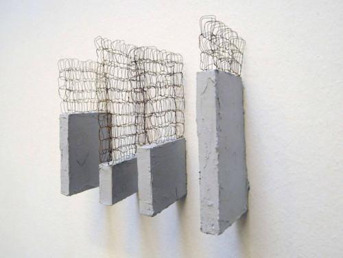 ferro legno e stucco, cm 20x25x9 cm, Collezione Privata